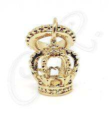 """Damen Charm """"goldene Krone"""" Gold veredelter Anhänger, sehr hübsch und sehr edel"""