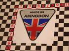 Made in Abingdon Chrome Sticker- MGB Midget MGA Magnette MGC GT TD TF TC Adesivo