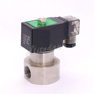 "SPG-6 high pressure stainless steel solenoid valve SS304 3/8 1/4"" inch"