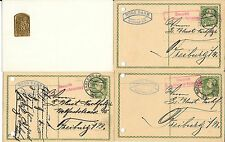 AUSTRIA- W W 1 military- 3 Gablonz cards to Freiburg plus unusual 'ISONZO-ARMEE""