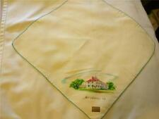Vintage Souvenir Handkerchief Mt. Vernon Virginia Hand Painted George Washington