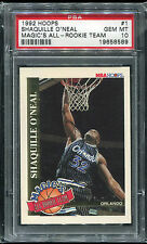 1992 Hoops Magic's All-Rookie Team Shaquille O'Neal RC #1 PSA 10 Lakers HOF 2016