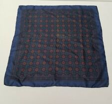 "Vintage Ashear 18""x18"" 100% Silk Made in Italy Pocket Square Handkerchief"