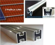 2 x Solar Aluprofil je 1.24m. 40x40 mm. Befestigung für Dachhaken,Stockschraube.