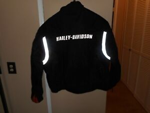 Men's Harley-Davidson FXRG Black Extreme Weatherproof/Reflective Jacket 3XL