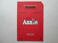 Annie From The Broadway Musical Annie 1977 1978 Vintage Sheet Music Big3 Strouse