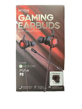VIBE Gaming Earbuds with Detachable Boom Microphone for PS4 / Xbox / PC & Switch