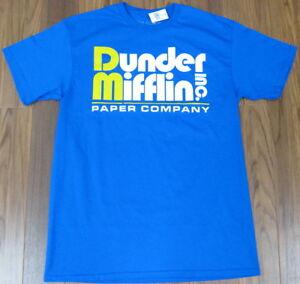 The Office TV Show Dunder Mifflin Paper Company T Shirt Blue NEW Men M L XL XXL