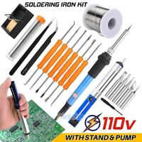 Electric Soldering Iron Gun 60W 110V Welding Desoldering Pump Soldering Wire Set
