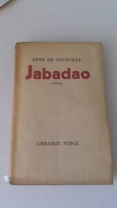 Anne de Tourville - Jabadao - Librairie Stock (1952)