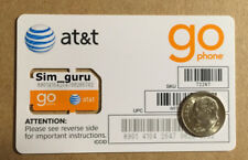 At&T Standard Sim Card • Gsm • New Genuine Oem • Prepaid go Phone Sim