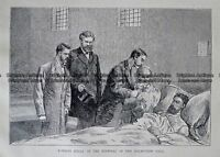 Antique Print 236-066 Edward Kelly in the hospital of the Melbourne Gaol c.1880