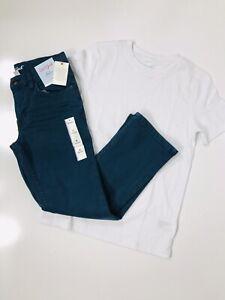 Boys Cat & Jack Straight Jeans Size 8 Teal/green Cat & Jack Shirt Bundle NWT