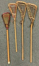 4x Vintage RARE Lacrosse Stick Lot Original Laces Pre-WW2 US Naval SEE DESCRIP