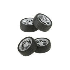 4pcs 40/48mm Car Tires Wheels Tyre Toy Model Rubber Wheels for Model Making