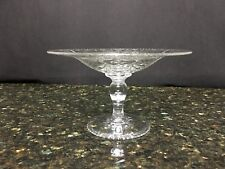 """Beautiful Antique Hawkes Crystal Compote 4&1/4"""" High & 6&3/4"""" Wide"""