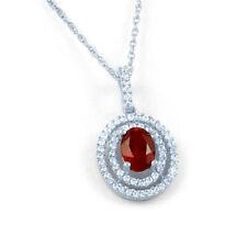 Collares y colgantes de joyería con gemas de oro blanco rubí diamante