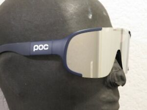POC Aspire Sunglasses Lead Blue Violet / Silver Mirror Cycling Sports Carl Zeiss