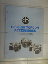 Beseler Topcon Accessories Sales Pamphlet with July, 1970 Price List