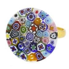 GlassOfVenice Murano Glass Millefiori Ring 3/4 Inch
