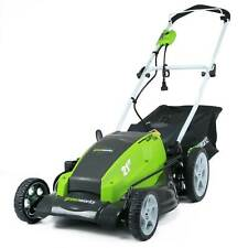 Greenworks 13 Amp 21 Inch Corded Lawn Mower with Automatic Oiler, Green | 25112