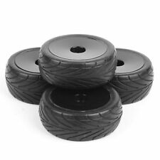 12mm Hex Rubber Front&Rear Tires+Wheel Rim 25027 For RC 1:10 Off-Road Buggy Car