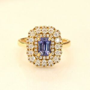 Natural Blue Ceylon Sapphire Convertible Pendant and Ring