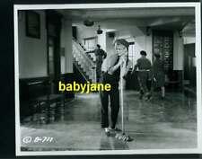 BRIGITTE BARDOT VINTAGE 8X10 PHOTO CUTE SWEEPING FLOORS 1959 BABETTE GOES TO WAR