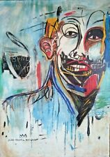 JEAN-MICHEL BASQUIAT, HANDMADE OIL PAINTING ON CANVAS,SIGNED,(Frameless) 50x70cm