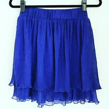 NWOT Iora Tiered Layer Crinkle Blue Skirt small