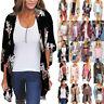 Womens Holiday Floral Boho Long Kimono Cardigan Summer Casual Jacket Coat Tops