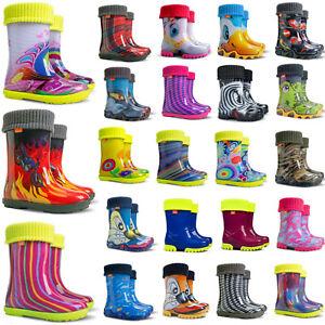 Kids Boys Girls Wellington Boots Wellies Rainy Boots size 4-2.5 UK / 20-35 EU