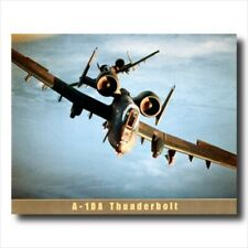 A10 Thunderbolt Fighter Jet Aircraft Wall Picture Art Print
