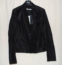 New Women's Jil Sander Silk Coat Jacket $2145 Retail Black Size 40