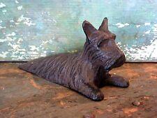 Cast Iron Metal Animal Pet Scottie Dog Door Stop Wedge Home Garden Cabin Decor