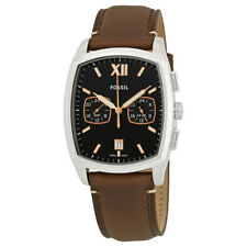 Fossil Knox Dual Time Chronograph Black Dial Mens Watch FS5356