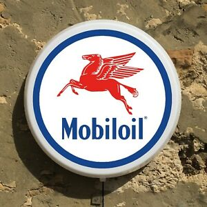 MOBILOIL LED ILLUMINATED LIGHT BOX SIGN GARAGE GAS STATION AUTOMOBILIA MAN CAVE