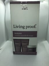 Living Proof Restore Travel Kit w/ Shampoo 60ml,Conditioner 60ml,and Mask 28g