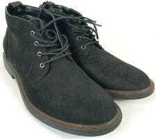 Alfani Mens Black Suede Lace Up Ankle Chukka Boots Size 10.5 Lancer