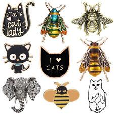Crystal Elephant Pin Brooch Jewelry Wedding Enamel Vintage Animal Cat Bumble Bee