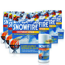 6x Snowfire Solid Emollient Ointment Stick 18g For Dry Chapped Skin Hands Feet