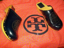 Tory Burch  Authentic  Retired  Navy Patent Chic Perforated Clogs  Size 7M USED