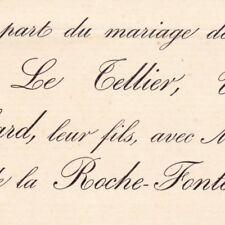 Raoul Le Tellier De Blanchard 1892 Augustine Marie De La Roche-Fontenille