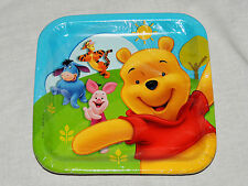 "WINNIE THE POOH & FRIENDS  8- PAPER LUNCH PLATES  9""X9"""" - PARTY SUPPLIES"