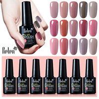 Belen Soak Off Gel Polish Varnish UV LED Nude Color Series Base Top Coat 10ML UK