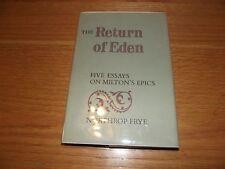 The Return of Eden,Five Essays on Milton's Epics,Northrup Frye HC 1965
