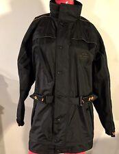 Harley-Davidson Jacket Motorcycle Windbreaker Waterproof Black Lined Size: XXS