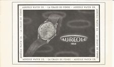 vintage 1952 print ad AUREOLE Swiss Suisse watch movement MID CENTURY ART