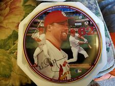 Mark McGwire The Bradford Exchange Collectible Plate Home Run #62 1998 Cardinals