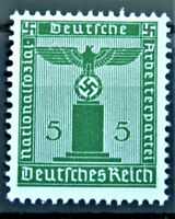 WW2 REAL HITLER  3rd REICH ERA GERMAN OFFICIAL STAMP 5rf MNH NEVER USED